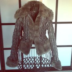 Gray hook and eye spring jacket. Size small Very cute!! Nice for a breezy spring night out with your significant other!!!! Jackets & Coats