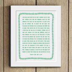 Treasure your wedding vows. Custom wedding vows print by DevonDesignCo