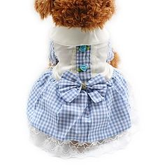 Cat Dog Tuxedo Dress Dog Clothes Party Casual/Daily Wedding Plaid/Check Blushing Pink Blue Ruby 5992969 2017 – $9.99