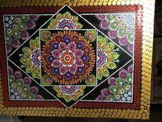 Mandala Painting, Dot Painting, Mandala Dots, Mandala Design, Gods Eye, Hand Painted Ornaments, Hamsa, Rock Art, Painted Rocks