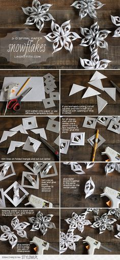 Make Some 3D Spiral Snowflakes | Lia Griffith na Stylowi.pl