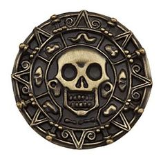 [Cursed treasure!]Bewitch your Disney pin collection with a replica of the cursed Aztec coin from Disney's <i>Pirates of the Caribbean</i> films, inspired by the famous Disney Parks attraction.