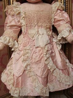 Wonderful costume for antique big french or german bebe. from les-fees-du-temps on Ruby Lane