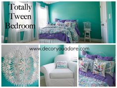 Decor You Adore: Tween Room fit for a queen!#tween room #girls room #pottery barn teen