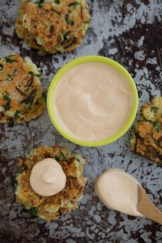 Crispy Cauliflower Carrot Fritters with Smoky Garlic Aioli