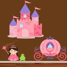 Adorable Princess Decal Set! Comes With A Princess, Frog Prince, Carriage  And Castle Part 85