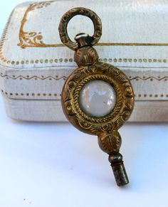 Victorian Pocket Watch Key Fob Pendant  thecaravancollection