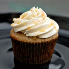 Apple caramel cupcakes and the best frosting i have ever made