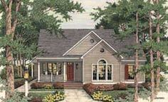 Elevation of Country   European   Ranch   House Plan 40006