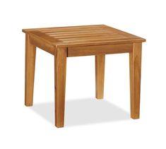 Hampstead Teak Side Table - Honey | Pottery Barn