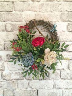 Beautiful Spring Wreath Summer Wreath Front by AdorabellaWreaths, $150.00