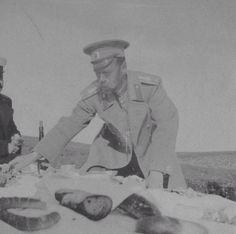 Tsar Nicholas II at a picnic.