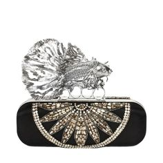 Jewelled Fish Long Knuckle Box Clutch