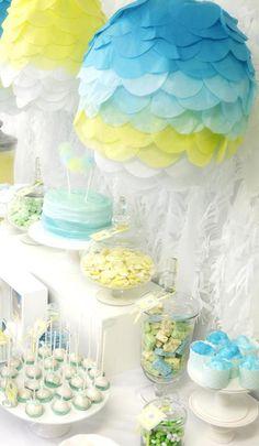 Hot Air Balloon Neutral Baby Shower - Bella Paris Designs