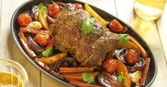 Recette de Rôti de veau sur légumes d'hiver. Facile et rapide à réaliser, goûteuse et diététique. Ingrédients, préparation et recettes associées.