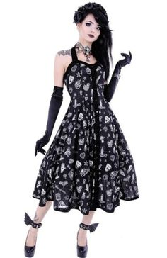 Restyle-Rockabilly-Kleid-Gothic-Dress-Nugoth-Retro-Witchy-Vintage-Gothabilly-WGT
