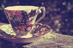 life-in-bloom:  Just a little tea-cup happiness to start my day off right.
