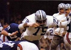 """Jethro Pugh played with the Cowboys for his entire career, from 1965 through His 14 seasons represent the fourth-longest career in Cowboys history; only Ed """"Too Tall"""" Jones, Bill Bates and Mark Tuinei played more years. Dallas Cowboys History, Cowboy History, Cowboys 4, Dallas Cowboys Football, Football Fans, Nfl Coaches, Cowboy Spurs, How Bout Them Cowboys"""