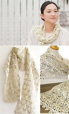 Crochet spring scarf or shawl (depending on wide you make it) -- free pattern.