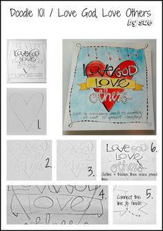 Bible Journaling Doodle101 Tutorials for those who want to do art journals but dont know how!!!