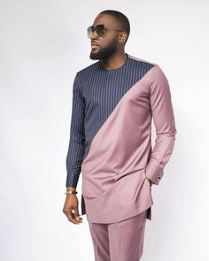 Tope African men shirt and a matching pant set/African clothing/ Africa men clothing/ Africa men Shirt/Dashiki/Tunic shirt/Prom/Groom suit African Shirts For Men, African Dresses Men, African Attire For Men, African Clothing For Men, Latest African Fashion Dresses, African Men Fashion, African Wear, Ankara Fashion, Africa Fashion