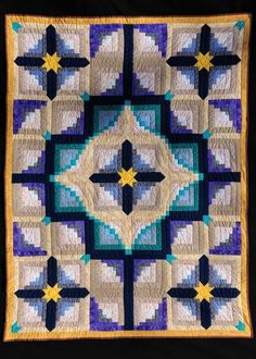 Log Cabin Quilt by Paula