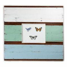 Vineyard Recycled Wood Pale Green Wide Board Frame