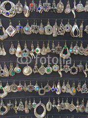 Homemade earrings, Istanbul, Turkey