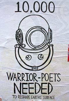 10,000 warrior poets needed