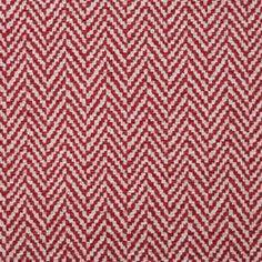 Um jacquard com padrão em relevo espinhado de tom em vermelho e branco. Ideal para trabalhos de estofo, almofadas e cabeceiras de cama.