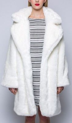 Faux-Fur Coat in White