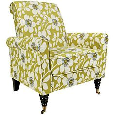 angelo:HOME Harlow Peapod Green Floral Armchair