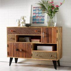 Sorio Reclaimed Wood Small Sideboard - Modish Living Boho Chic