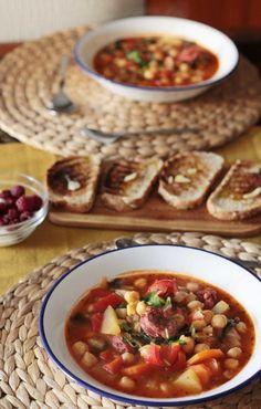Zupa z ciecierzycą i chorizo Chorizo, Waffles, Breakfast, Food, Morning Coffee, Essen, Waffle, Meals, Yemek