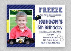 Police Birthday Invitation   Police Birthday by TheTrendyButterfly