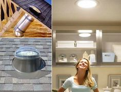 Sun tunnels to add natural light to rooms with few to no windows. GREAT IDEA FOR BATHROOMS. This link also has 30 other hacks to remember when building a house
