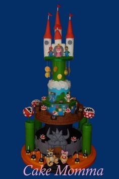 Super Mario Tower!  Cake by cakemomma1979