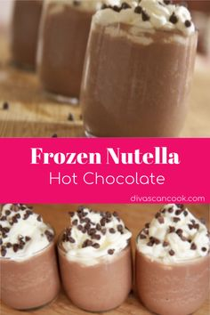Frozen Nutella Hot Chocolate Recipe - Heavenly! | Best Frozen, Creamy Dessert! 😋 🍫 🍮 ☕️ 🥛 #hotchocolate #frozendesserts #chocolate #desserts