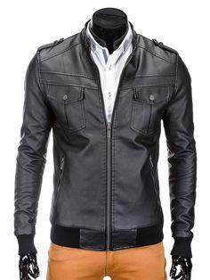 KURTKA C334 - CZARNA - Sklep Ombre Motorcycle Jacket, Jackets, Fashion, Moda, Moto Jacket, Fasion, Fashion Illustrations, Fashion Models, Cropped Jackets