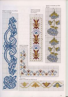 2 (14) — Postimage.org Cross Stitch Bookmarks, Cross Stitch Borders, Cross Stitch Flowers, Cross Stitch Designs, Cross Stitching, Cross Stitch Patterns, Ribbon Embroidery, Cross Stitch Embroidery, Embroidery Patterns
