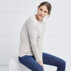 Fine Ribbed Layering Jumper | Jumpers | The White Company UK