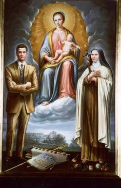Mary, Bl. Pier Giorgio, and St. Thérèse- patrons of WYD2013. Pray for us!