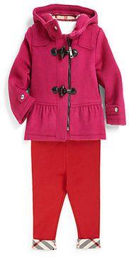 Burberry Toddler Girl's Peplum Wool Duffle Coat on shopstyle.com