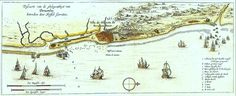 Mapa de Pernambuco de 1631. Acervo do Instituto Ricardo Brennand, Recife, Brasil. Um dos primeiros mapas publicados na Holanda mostrando a região hoje ocupada pela cidade do Recife.