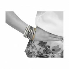 Napkin Rings, Leather Bracelets, Steel, Napkin Holders