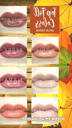 Lipsense Lip Colors 2019 Top Fall LipSense Colors: Mulled Wine Berry Napa Persimmon Nutmeg Praline R LiPiN Cool Skin Tone, Colors For Skin Tone, Good Skin, Berry, Lipsense Lip Colors, Long Lasting Lip Color, Coloring Tutorial, Clear Nails, Mulled Wine