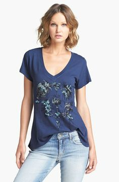 Wildfox 'Garden Party' V-Neck Tee | Nordstrom