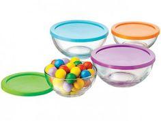 Conjunto de Bowls em Vidro 4 Peças - Crisa com as melhores condições você encontra no Magazine Raimundogarcia. Confira!