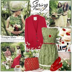 Green and red. Berry-licious
