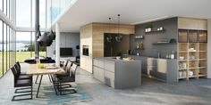Modern kitchen colors 2017 color schemes neutral color tones and brown colors of natural wood modern kitchen colors and design trends lushome contemporary Contemporary Home Decor, Modern Interior Design, Contemporary Design, Kitchen Trends 2017, German Kitchen, Kitchen Models, Küchen Design, Home Design, Design Trends